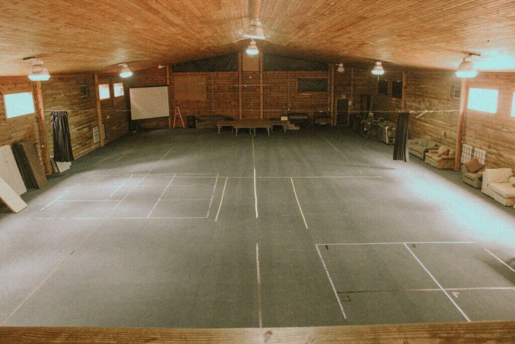 Inside meeting space