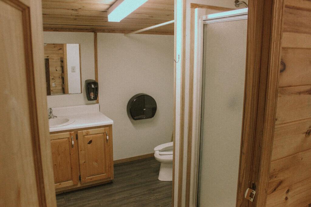 Upstairs bathroom 1 per room